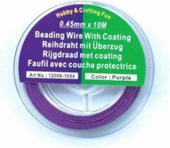 Paarse Hobby & Crafting Fun Rijgdraad met Coating - Purple - 0,45mm x 10meter