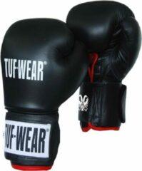 Zwarte TUF WEAR Safety Spar (kick)bokshandschoen Leder 12 oz