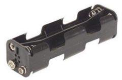 Velleman BH382B Batterijhouder 8x AA (penlite) Drukknopaansluiting (l x b x h) 108.5 x 31.5 x 29.5 mm