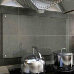 VidaXL Spatscherm keuken 90x50 cm gehard glas transparant