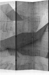 Grijze Kamerscherm - Scheidingswand - Vouwscherm - Concrete Geometry [Room Dividers] 135x172 - Artgeist Vouwscherm