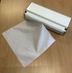 Witte HygieneShopBasics Papierrolhouder voor papier ter bescherming van de babyverschoontafel of commode