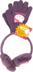 Hello Kitty - Winterset - Oorwarmers (verstelbaar) & Handschoenen - Paars - 100% Polyester