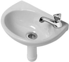 Witte Plieger Basic Fontein Toilet - Set - Fontein 40 cm inclusief fonteinkraan en sifon - Keramiek - Wit