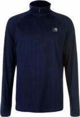 Donkerblauwe Karrimor Hardloop shirt lange mouw ¼ Zip - Runningshirt - Heren - Donker blauw - XXL