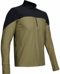 Groene Under Armour Qualifier Half Zip - Hardloopshirts (lange mouwen)