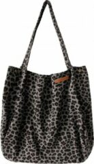 Grijze Your Wishes Mommy tote bag / luiertas small leopard jacquard multicolour