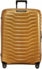 Gouden Samsonite Proxis Spinner 81 honey gold Harde Koffer