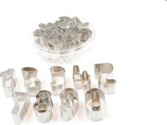 Zilveren Qatrixx Uitstekers Cijfers Metaal set van 9
