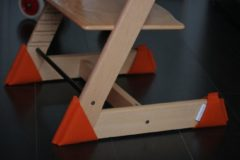 Kidsidee Sokkoo's Vloerbeschermers voor de kinderstoel, kleur Hip Oranje