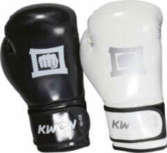Witte KWON Bokshandschoenen Reflector Mesh zwart 10oz