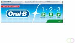 12x Oral-B Tandpasta 1-2-3 Frisse Mint 75 ml