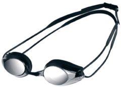 Zilveren Arena Tracks zwembril met spiegelglazen - Zwembrillen volwassenen
