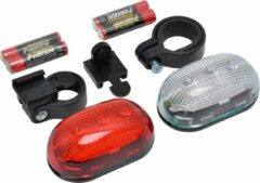 Rode Dresco - Classic - Fietsverlichting - 2 x 3-leds - Batterij - Transparant