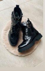 Shoekueen Dames Schoenen Zwart Enkellaarzen Gesp 39