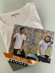 Witte Trooxx T-shirt 3x 2 pack, 6 stuks Extra Long - Round Neck - Kleur: White - Maat: L