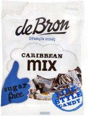 De Bron - Lifestyle Candy Suikervrije Caribbean Toffees - Suikervrije Toffees / Snoep - Chocolade - 90 Gram - 1 Zak