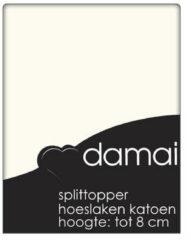 Beige Damai Topcover katoen 180 x 210 (04) ivory BI-inkeping enkel (tot 8 cm) Nightkiss
