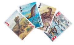 Kikkerland 3d-speelkaarten Dino 62 X 88 Mm Papier 54-delig