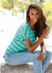 Groene Beachtime T-shirt (set van 2) met maritieme ankerprint