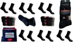 Zwarte Naft Regular thermo sokken Multipack Unisex Sokken 43-46