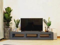 Antraciet-grijze Betonlook TV-Meubel open vakken | Antraciet | 160x40x40 cm (LxBxH) | Betonlook Fabriek | Beton ciré