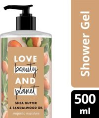 Love Beauty and Planet Majestic Moisture Shea Butter & Sandalwood Oil Douchegel 500 ml