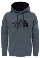 Grijze The North Face Drew Peak Pullover Hoodie Trui Heren - Tnf Medium Grey Heather (Std) / Tnf Black
