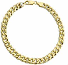 Goudkleurige ZilGold The Jewelry Collection For Men Armband Geslepen Gourmet 6 mm 21 cm - Goud