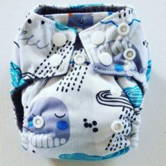 Merkloos / Sans marque AN9 AIO Newborn wasbare Pocket luier zee