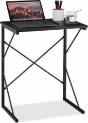 Zwarte Relaxdays Laptoptafel klein - computertafel - bureau - laptopbureau - werktafel - compact