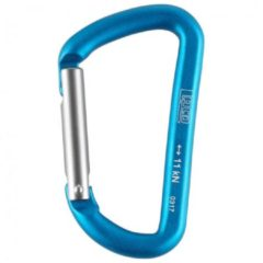 LACD - Accessory Biner Straight - Materiaalkarabiner maat 80 mm, blauw/turkoois/grijs