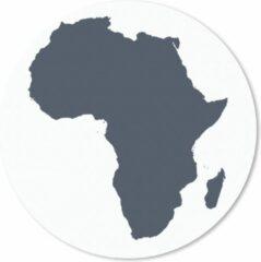 MousePadParadise Muismat Afrika kaart - Marineblauwe kaart van Afrika Muismat rond - 20x20 cm - Muismat met foto
