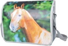Bruine Esschert Design schoudertas Paard 15 liter polyester/PP grijs