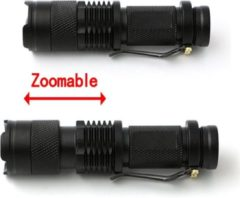 Now4you.nl Hoge kwaliteit zaklamp Mini CREE LED 700LM Zwart Waterproof