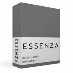 Licht-grijze Essenza - Katoensatijn - Hoeslaken - Lits-jumeaux - 180x200 cm - Steel grey