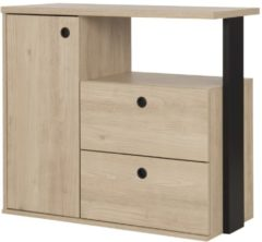 Naturelkleurige Gamillo Furniture Commode Duplex 80 cm hoog in naturel kastanje