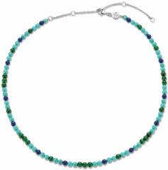Ti Sento Milano TI SENTO-Milano 3916TM Ketting Beads zilver-kleursteen blauwtinten 4 mm 38-48 cm