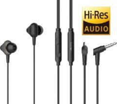 Tuddrom H3 Zwart - Hi-Res In Ear Oordopjes met Microfoon - Dual High Quality Dynamic Drivers - 2 Jaar Garantie