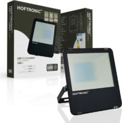 Zwarte HOFTRONIC™ LED Breedstraler 100 Watt - IP65 - 4000K - 160lm/W - Schijnwerper - Buitenlamp - 5 jaar garantie