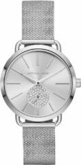 Michael Kors MK3843 Horloge Portia staal zilverkleurig 37 mm