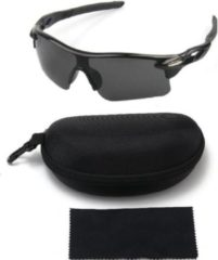 Makes Easy Fietsbril | Sportbril | Sportzonnebril | Zwart | Inclusief Luxe Koffer met Doek