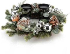 Fleurange Edler Kranz mit Kerzenhalter-Set