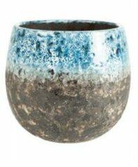 Lichtblauwe Ter Steege Pot Lindy Sky Blue blauwe ronde bloempot voor binnen 16 cm