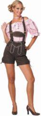 Bruine Partylook Luxe Tiroler Lederhosen Dames - 36