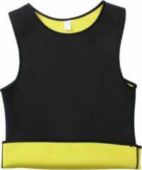 Merkloos / Sans marque Saunafit Thermische Shirt - Heren - Maat L - Zwart/geel - Gezond en makkelijk afvallen