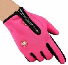 Merkloos / Sans marque Handschoenen - Touchscreen - Grip - Waterafstotend - Thermisch - Wintersport - Ski/Snowboardhandschoenen - Fietshandschoenen - Dames - Maat S - Stretch - Roze