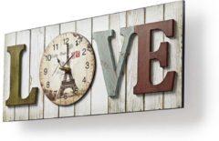Nedis Houtstijl wandklok in lijst | Model'LOVE'Houtstijl wandklok in lijst | Model'LOVE'