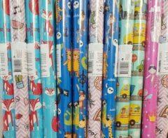Merkloos / Sans marque 5 rollen cadeaupapier voor kinderen 200 x 70 cm