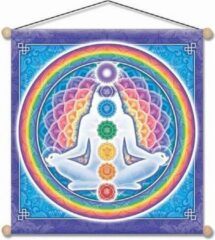 Yogi & Yogini Light Body banner - 37.5x37.5 - Polyester